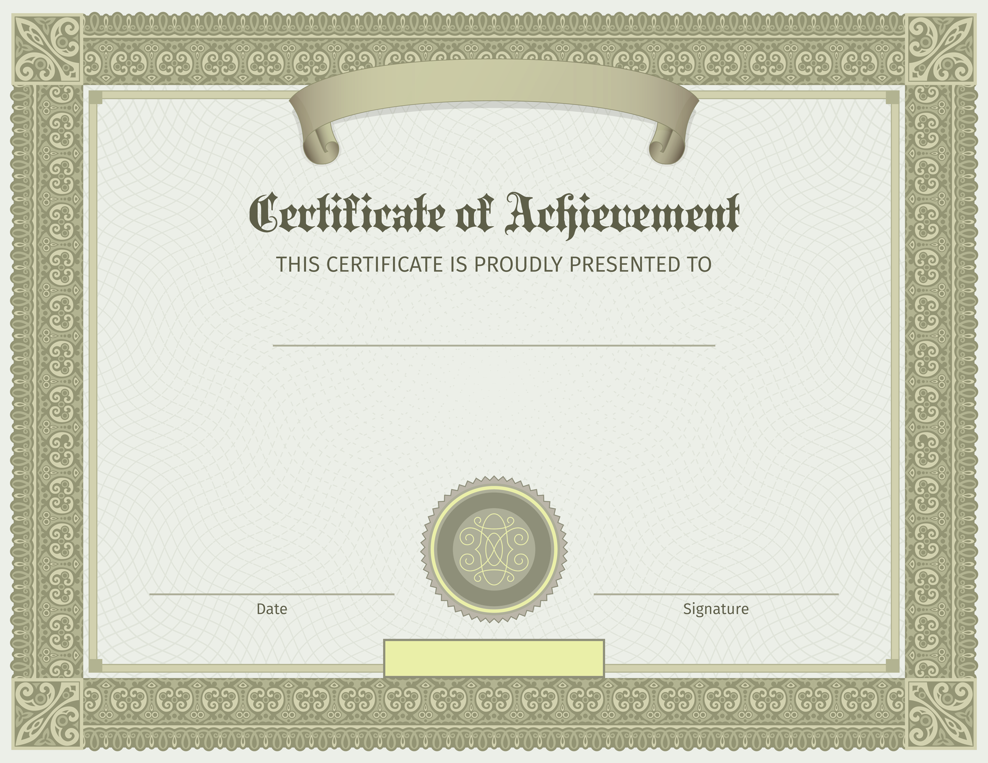 PlusPNG - Certificate Template PNG