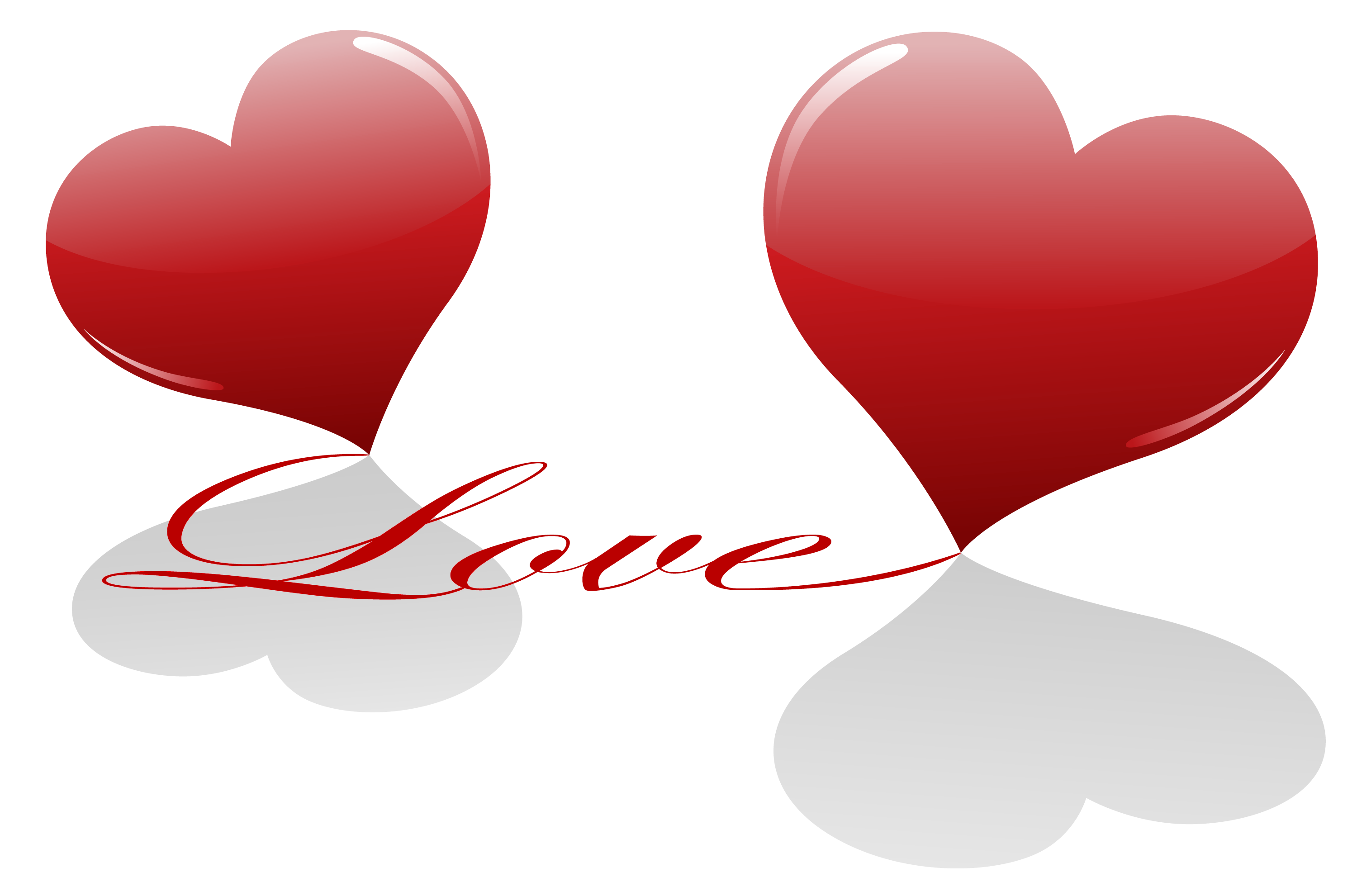 Hearts with Love PNG Clipart
