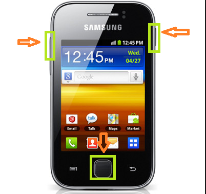 1 hard reset galaxy y.png - Samsung Mobile Phone PNG