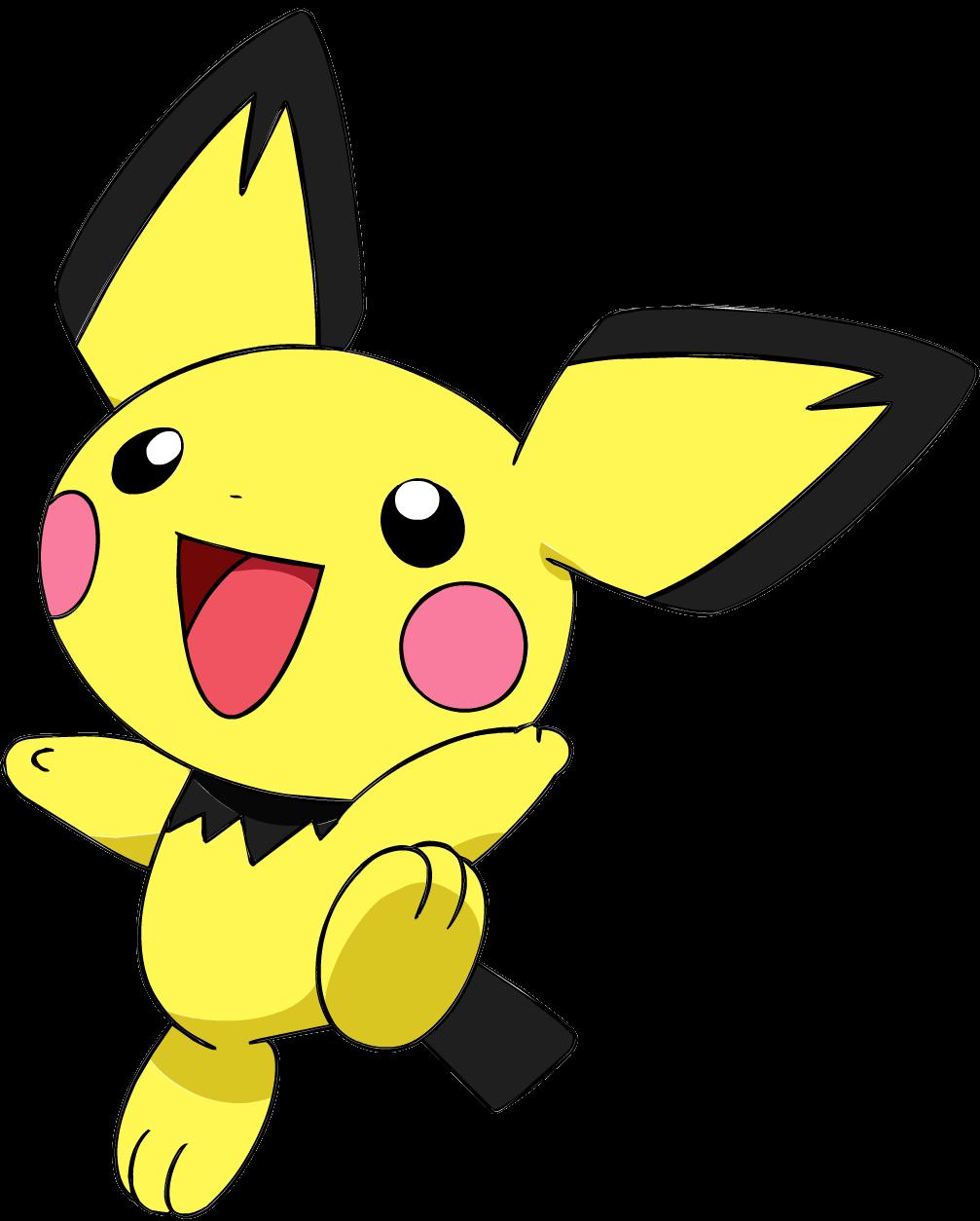 172Pichu OS anime 3.png - Pokemon PNG