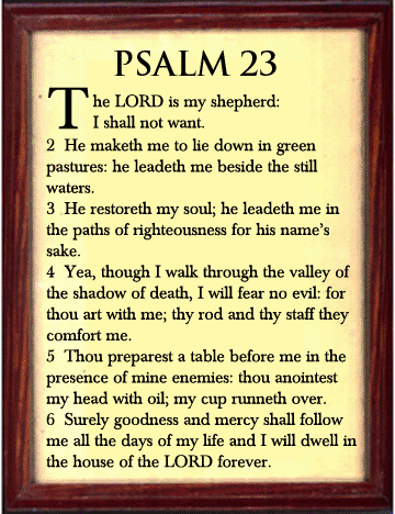 23rd Psalm PNG - 79937