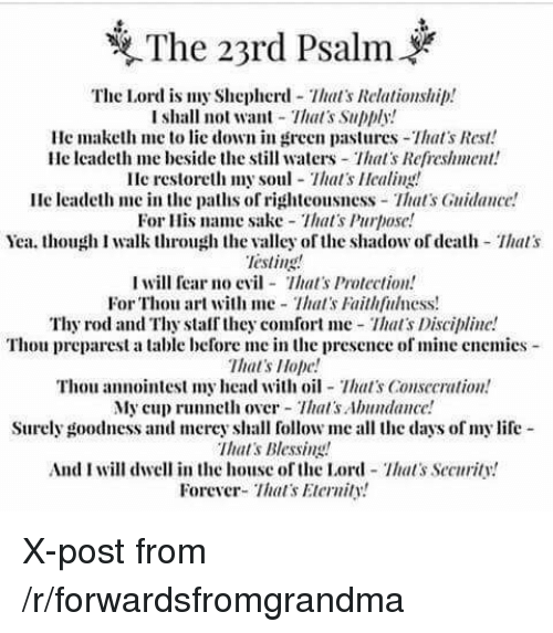 23rd Psalm PNG - 79947