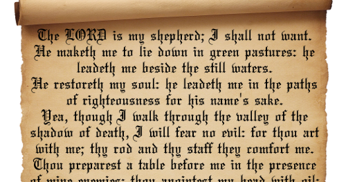 23rd Psalm PNG - 79950