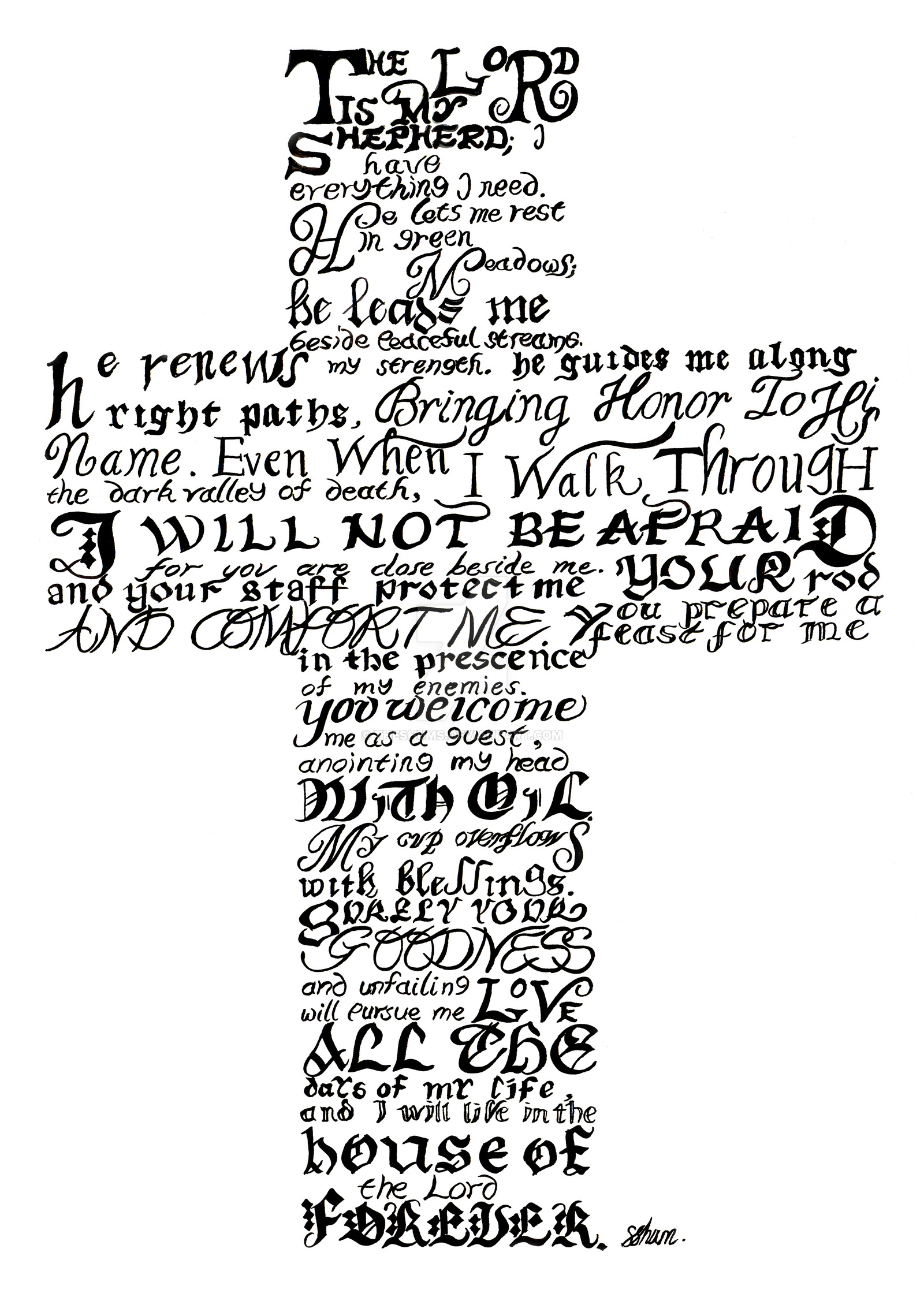 23rd Psalm PNG - 79949
