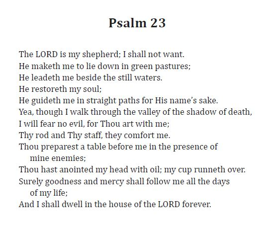 23rd Psalm PNG - 79940