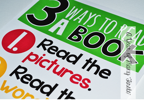 3 Ways to Read a Book poster via A Year of Many Firsts blog - 3 Ways To Read A Book PNG