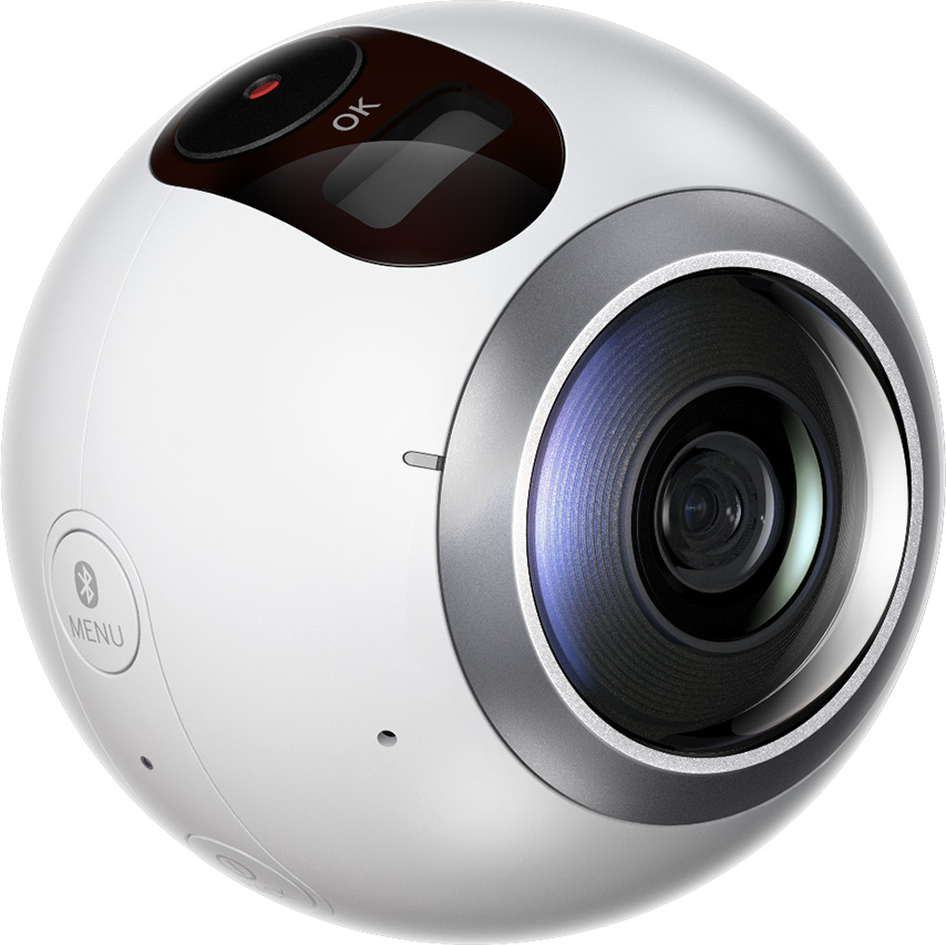 Left side view of Gear 360 PlusPng.com  - 360 Camera HD PNG