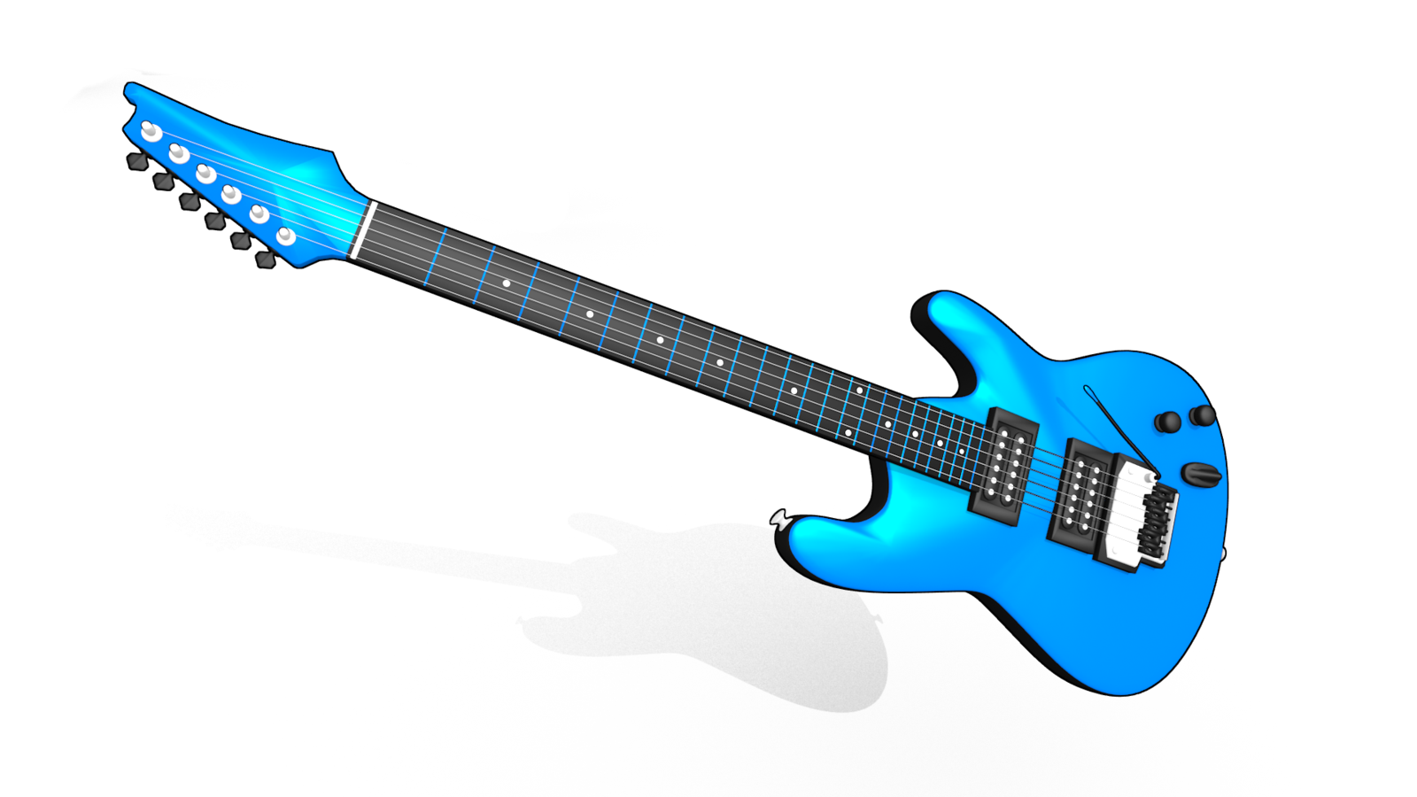 Electric Guitar 3D model by Aisorisu Electric Guitar 3D model by Aisorisu - 3d PNG HD