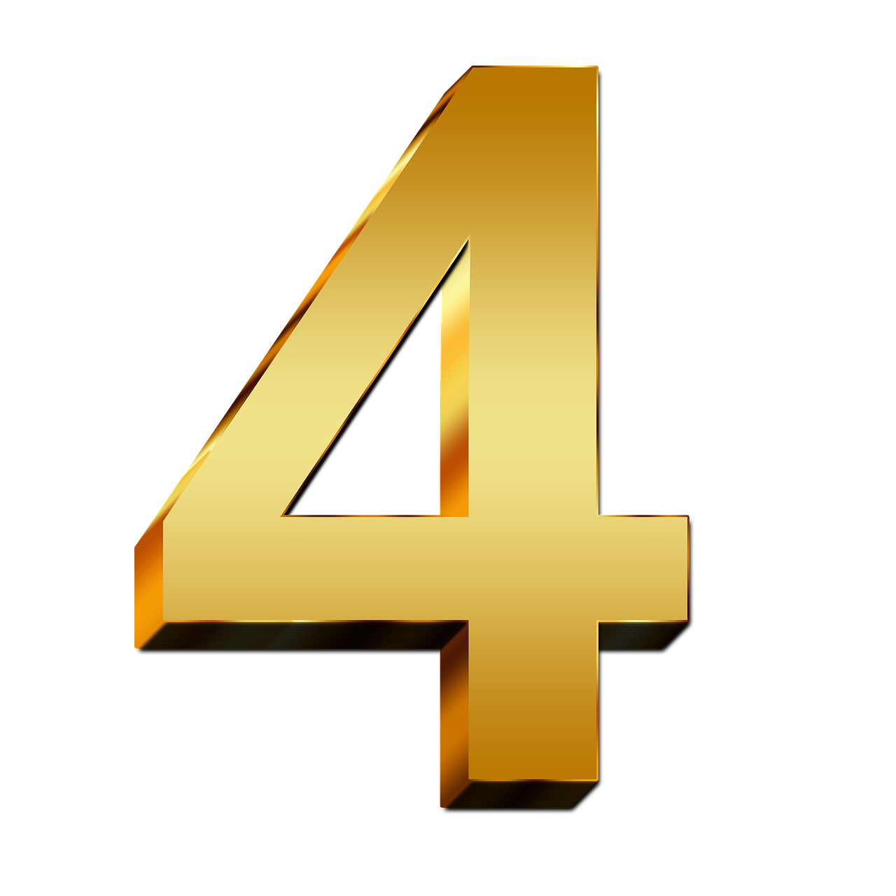 4 Number Png PNG Image