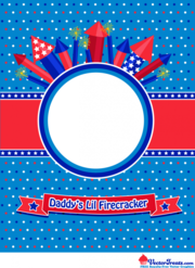 Free 4th of July Vector Graphic to Show Off Daddyu0027s Lil Firecracker - 4th Of July Bbq PNG