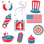 . PlusPng.com Happy Fourth of July Clipart - 4th Of July Bbq PNG