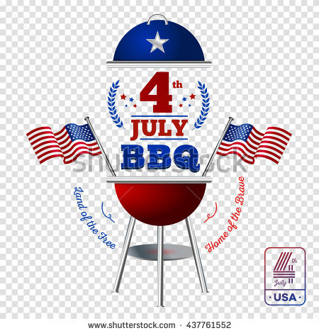 Happy fourth of July. Vector elements BBQ for American Independence Day on  transparent background - 4th Of July Bbq PNG