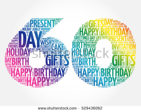 Happy 60th Birthday Word Cloud Collage Concept - 60Th Birthday PNG HD