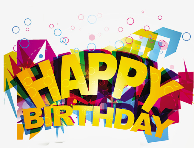 Happy Birthday Vector Wordart PNG And PSD