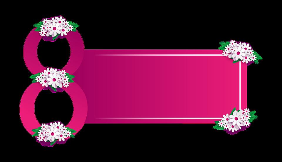 Flowers, March 8, Symbol, Composition, Congratulation - 8 March PNG
