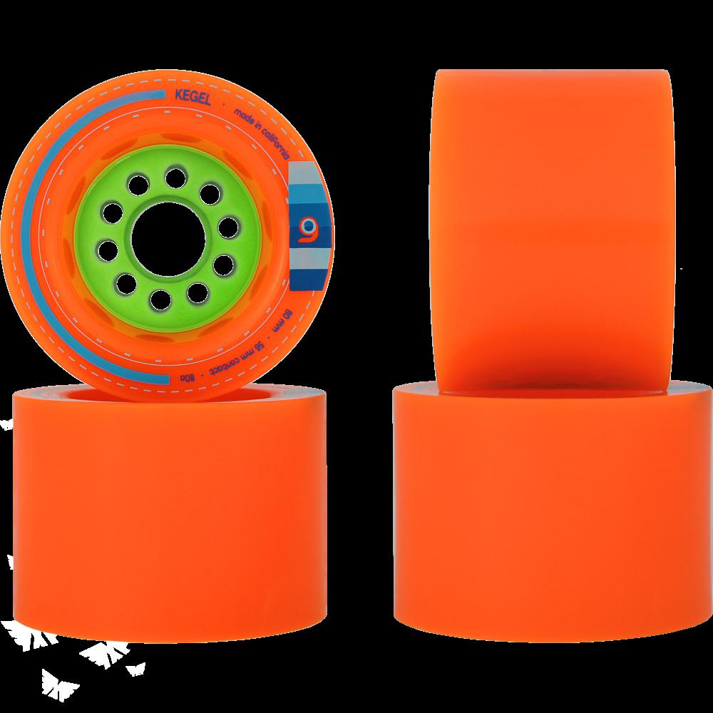 80mm Orangatang Kegel Longboard Wheels - 9 Kegel PNG