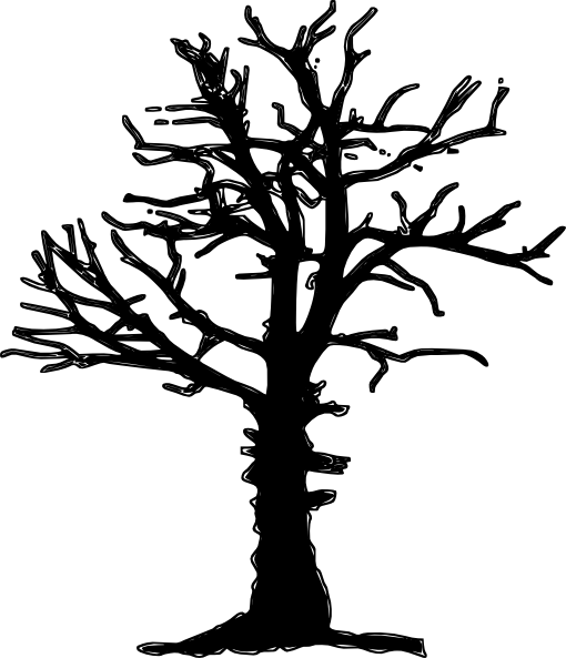 510x593 Dead Tree Silhoutte Clip Art - A Dying Tree PNG