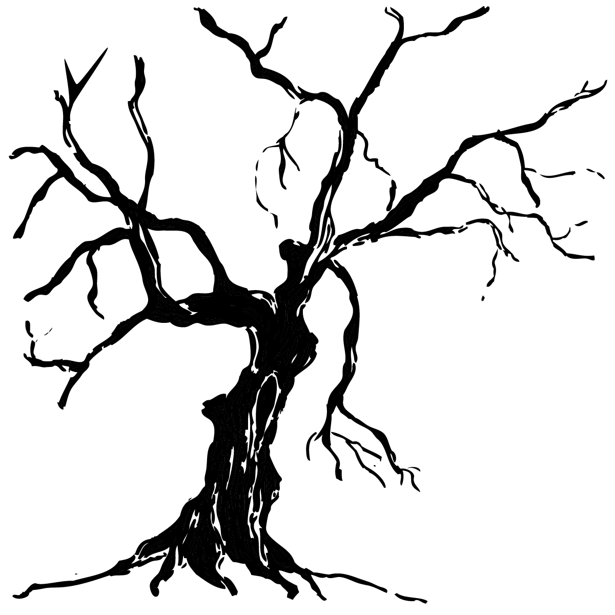 A drawing of a sick tree. - A Dying Tree PNG