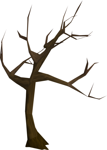 Windswept tree.png - A Dying Tree PNG