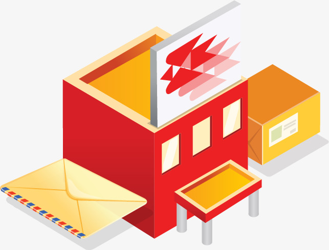 painted post office, Post Office, Post Office, Send A Letter PNG and Vector