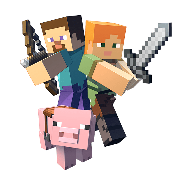 A private world, always online for you and your friends! - Minecraft PNG