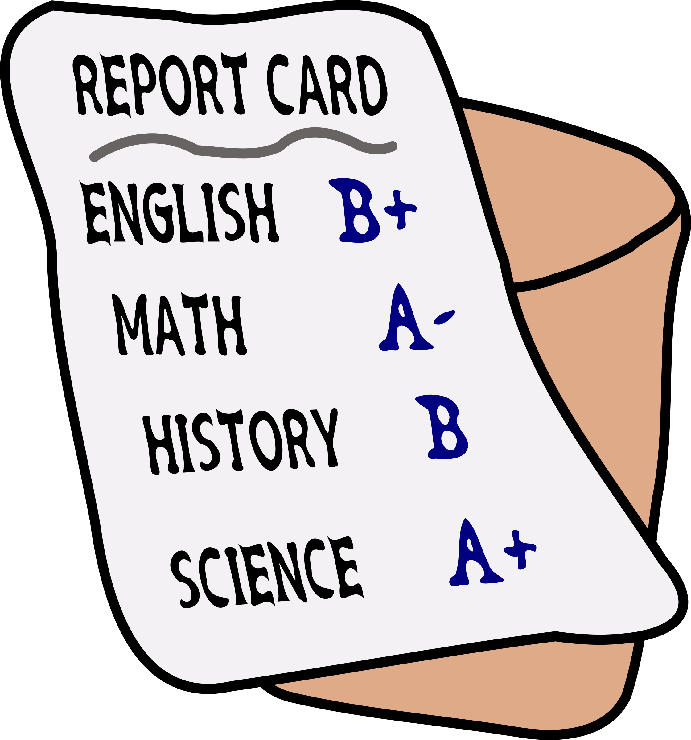 A Report Card PNG - 171008