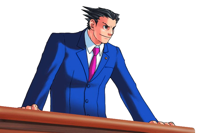 AA1 Phoenix Smug.png - Ace Attorney PNG