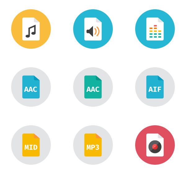 Audio files - Aac Vector PNG
