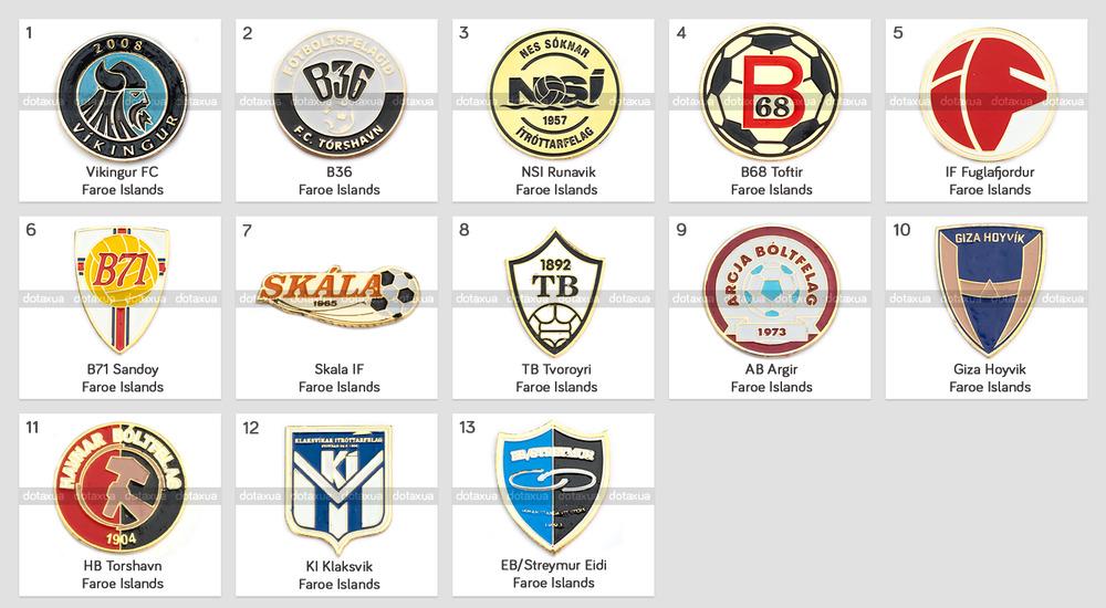 Badge Pin: European football clubs Faroe Islands Vikingur B36 B68 AB Argir  | eBay - Ab Argir Logo PNG
