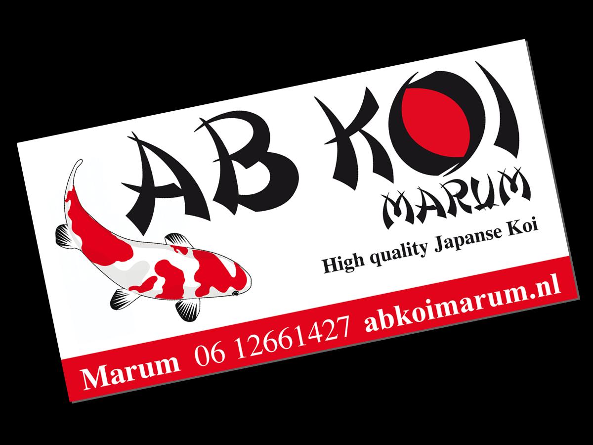 dibond naambordje logo AB koi Marum Groningen - Ab Reclame Logo PNG