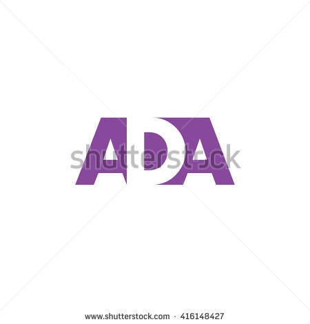 ADA Logo. Vector Graphic Branding Letter Element. White Background - Aba Logo Vector PNG