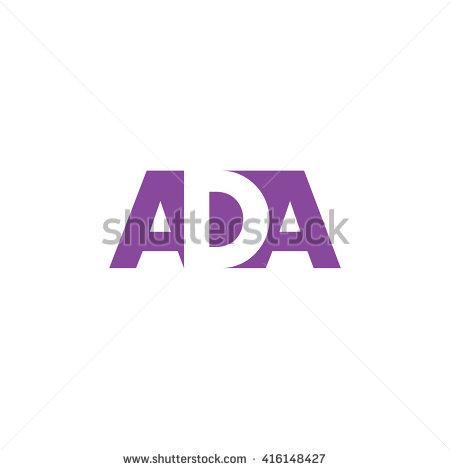 ADA Logo. Vector Graphic Bran