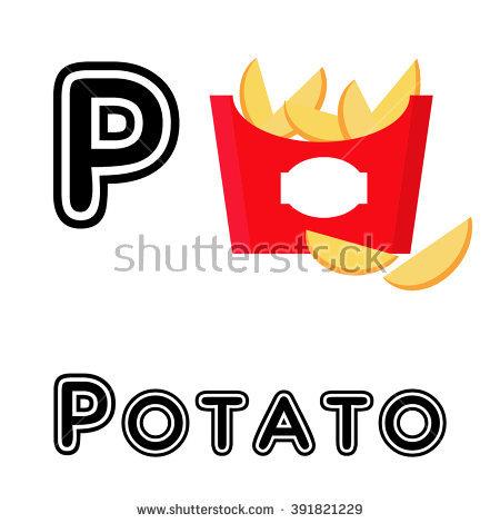 ABC vector. Alphabet color illustration. letter p - Abc Caffe Logo Vector PNG
