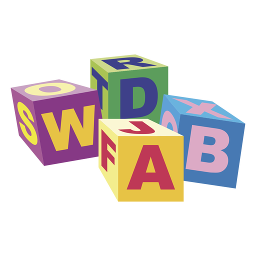 Cartoon abc blocks 02 png - Abc PNG