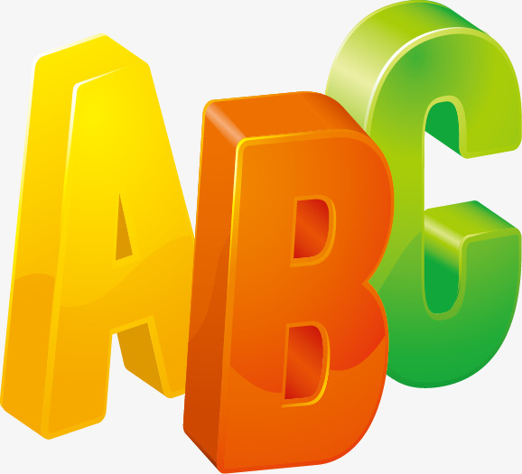 ABC alphabet vector material, English Alphabet, Abc, Vector Material Free  PNG and Vector - Abc Vector PNG