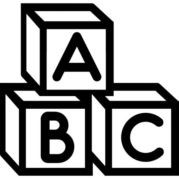 Baby abc cubes Free Icon - Abc Vector PNG