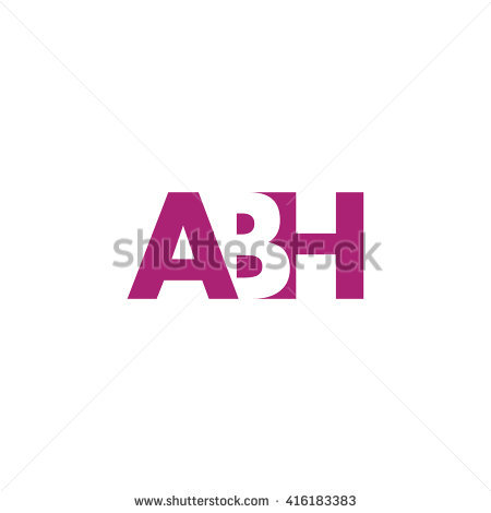 ABH Logo. Vector Graphic Branding Letter Element. White Background - Abh Vector PNG