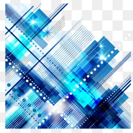 Blue abstract geometric lines of Science and Technology - Abstract PNG