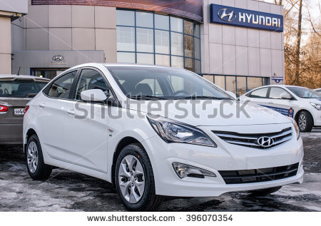 Novokuznetsk, Russia - March 22, 2016: Car Hyundai Accent (Solaris) on - Accent Auto Vector PNG