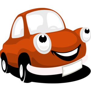 Smiling Cartoon Car Vector - Accent Auto Vector PNG