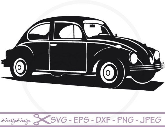 VW car Vector files SVG File for cricut SVG files by DoortjeDesign - Accent Auto Vector PNG
