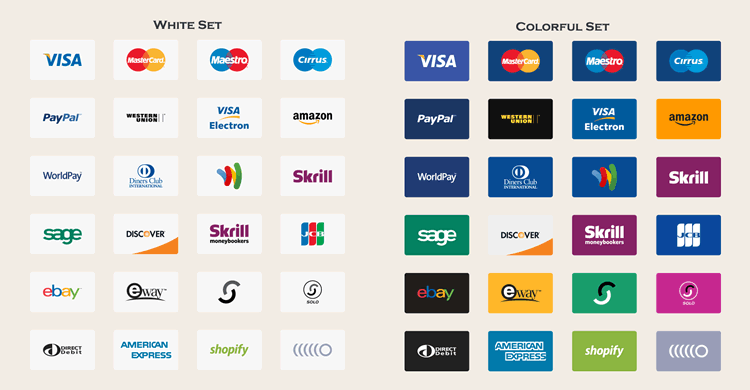 Free Payment Method Vector Icons eps png - Accept Logo Vector PNG