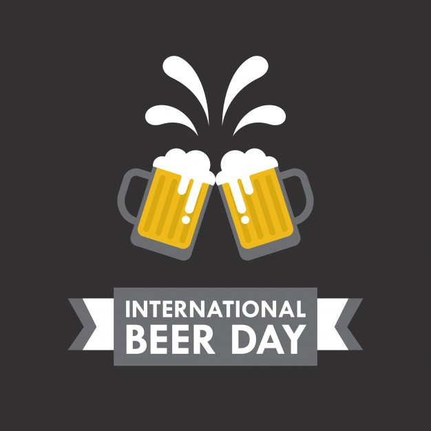 International Beer day vector illustration in flat style - Accept Logo Vector PNG