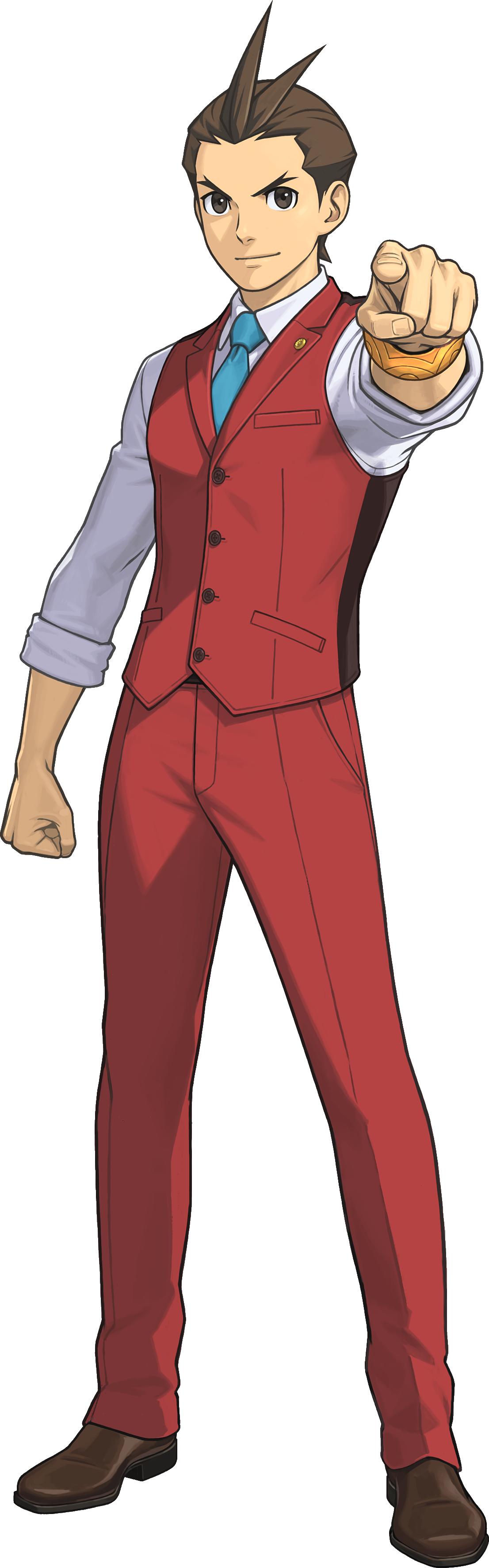 Apollo Justice AA6.png - Ace Attorney HD PNG