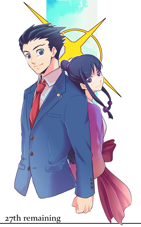 27th remaining Phoenix Wright: Ace Attorney Phoenix Wright clothing human  hair color anime cartoon joint - Ace Attorney PNG