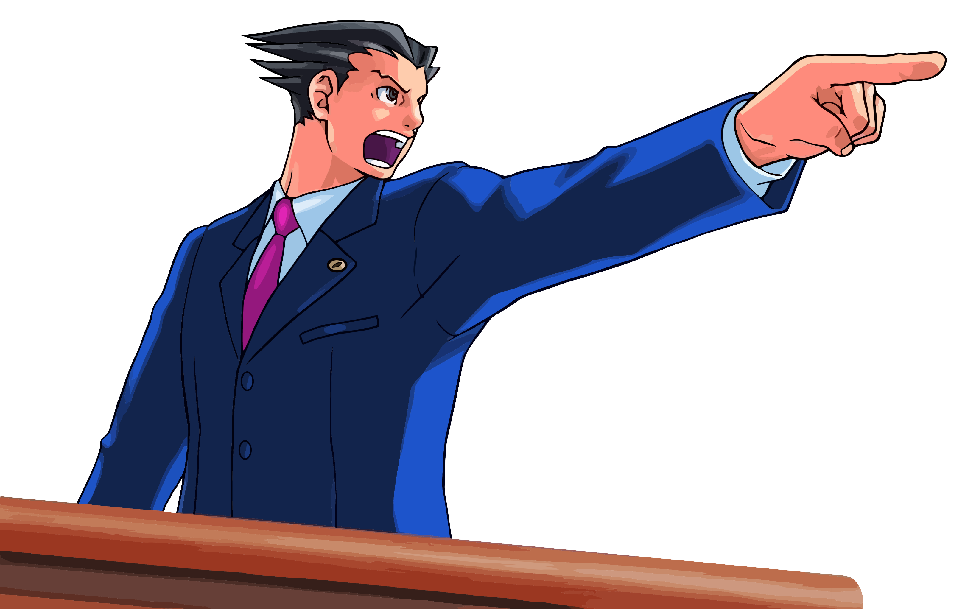 Ace Attorney Pointing PNG Ima