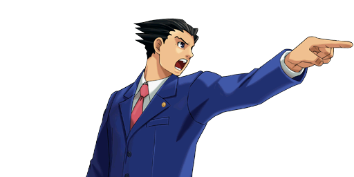 File:PXZ2 Phoenix Wright (zoom) - objecting (right).png - Ace Attorney PNG