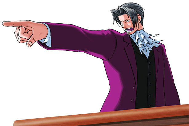 MilesEdgeworth.png - Ace Attorney PNG