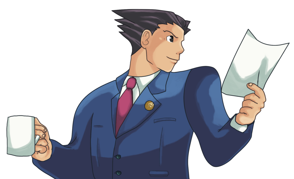 Phoenix Wright : Ace Attorney ~ by SideBOffStage PlusPng.com  - Ace Attorney PNG
