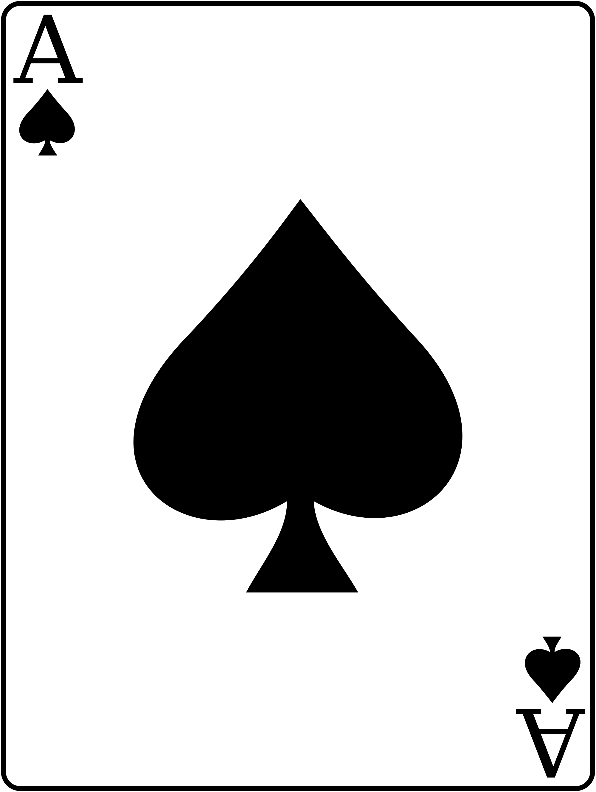 ace of spades - Google Search - Ace Card PNG